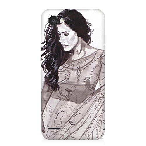Kajol in saree sketch design LG Q6 all side printed hard back...
