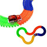 #6: MSE Race car's 5 LED lights keep Magic Tracks Race Track Gifts New (pack of 1 set)165 pieces of Glow Track!