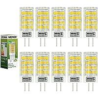10pz MENGS® Lampada LED 5W G4 51x2835 SMD LEDs (Bianco Freddo 6500K, 360 angolo, 480lm, AC/DC 12V, 16 x 45mm) Lampadine a risparmio energetico