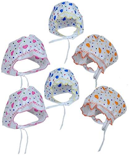 3cf0d52d5f3 PEUBUD Soft Cotton New born babies Printed Bonnets Caps Topi Hats 0-9