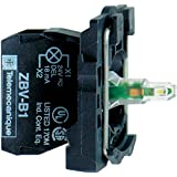 Schneider Electric ZB5AW0G41 Harmony Base / Estructura del Botón Luminoso, 1F Contactos, 110-120 V, Rojo
