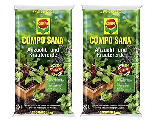 COMPO SANA® Anzucht- und Kräutererde 40 L Vorteilspackung (2x20L)