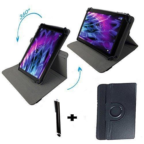 Xoro TelePAD 10A3 4G 10.1 Zoll Drehbare Tablet Schutztasche mit Standfunktion + Touch Pen – Schwarz 10.1 Zoll 360