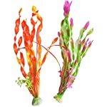 iNeith Fish Tank Plant Water Grass Aquarium Artificial Plastic Colorful Decor Ornament Decoration Submarine Pack of 5 9