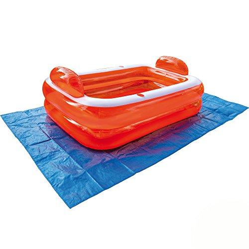 Poolunterlage ca. 187x300cm, zum Schutz des Poolbodens - Bodenplane Pool Schutzplane Bodenschutzplane Unterlage Unterlegplane