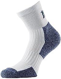 1000 Mile chaussettes pour homme ultra performance socks chaussettes de marche nordique Blanc Weiß mit Blau