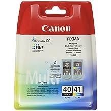 Canon PG-40 / CL-41 - Cartuchos de tinta para impresoras (12 ml Color, 16 ml Negro, blíster con alarma acústica de seguridad)