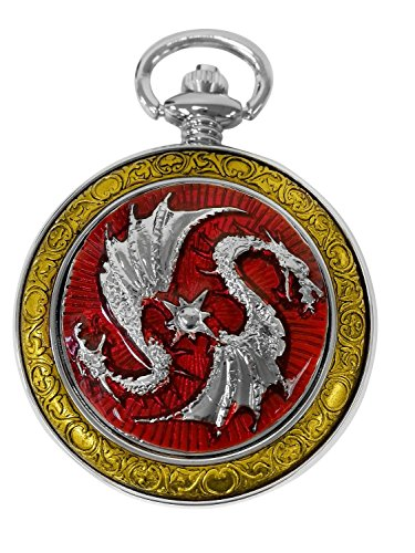 celtic-pocket-watch-red-dragon-motif-roman-numerals-with-chain-full-hunter-steampunk-cosplay-pw-74
