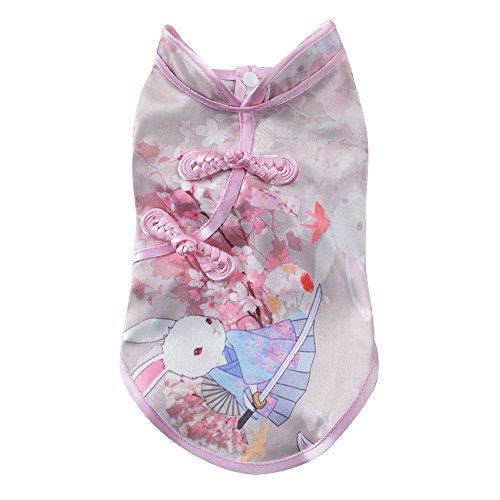 (EUZeo Nette Tang-Klage Chinesische Cheongsam Kostüm Kleidung für Hunde Haustier Welpen Katzen Hundebekleidung Lovely Pet Kleidung Hundeshirts Katzeshirts Dress Minikleider)
