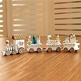 ILOVEDIY 4Stück Weihnachten Deko Vintage Zug Tisch Dekorations Spielzeug für Kinder Grün Rot Weiß (Weiß)