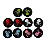 eJiasu ps4 Controller Grips Accessories, Skull Replacement Silicone Thumb Stick Grip Hat Cover for PS4 thumbsticks, PS3, PS2, Xbox one, Xbox 360 Controller (5 Color-10PCS)