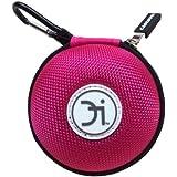 Caja CASEBUDi para auriculares, iPod Shuffle, iPod Nano, cargador de iPhone, monedas o otros - color rosa