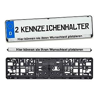 andSmile 2 Stück Kennzeichenhalter mit Chrom Leiste Wunschtext