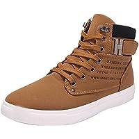 LILICAT☃ Otoño e Invierno Inglaterra Zapatos de Hombre Altos de Cuero Mate de Gran tamaño Botas de Hombres Casuales Moda Oxfords Zapatos de tacón Alto Casuales Zapatos Zapatillas