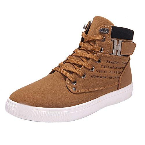 Chaussures Montantes pour Hommes, Grandes Tailles, Bottes pour Hommes Tout-Aller, Automne Et Hiver Cuir Angleterre Kinlene