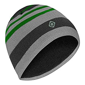 51CECk53ibL. SS300  - IZAS Men's Berley Beanie, Black/Dark Grey/Light Green, One Size