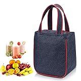 WAWJ Lunch Tasche Isoliert für Männer, Kühltasche Kinder Oxford Picknick Organizer Tote Bag Kühltasche Isoliertasche Picknicktasche (Rot)