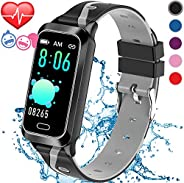 Inspiratek Kids Fitness Tracker for Girls and Boys Age 5-16 (5 Colors), Kids Activity Tracker, Fitness Watch f