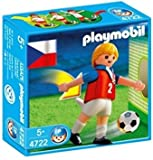 Playmobil 4722-Giocatore di Calcio Repubblica Ceca