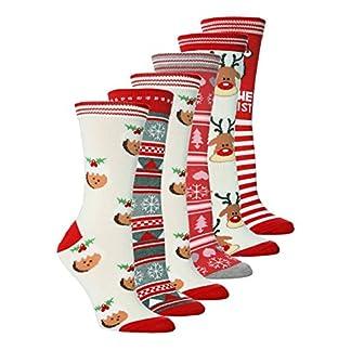 Sock Snob – 6, 12, 24 pares mujer rojo y blanco calcetines de navidad 37-42 eur