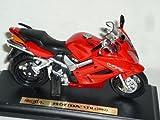 Honda Vfr 2002 Rot Mit Sockel 1/18 Maisto Modellmotorrad Modell Motorrad