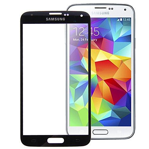Ersatz Frontglas Austausch Front Glas Glass für Samsung Galaxy S5 i9600 Displayglas Screen + Werkzeug Schwarz Samsung Galaxy S5 Lcd Austausch
