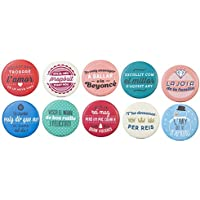 Mr. Wonderful WOM00867 Pack 10 Xapes Mat en Color Marxoses Per Saraus Nad, Compuesto, Multicolor, 16.7x14x2 cm