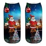 Sonnena Neuheit Unisex Christmas Xmas Kurz Socken Weihnachten Geschenk Winter Baumwolle Hausschuhsocken Kuschelsocken Bunte Gemusterte Kurzsocken Gedruckt Weihnachtssocken