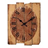 Likeluk Wanduhr Vintage, Lautlos Wanduhr Holz Uhr Uhren Wall Clock ohne Tickgeräusche,30×40cm