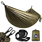 NATUREFUN Ultra-Light Travel Camping Hammock | 300kg Load Capacity,(275 x 140 cm) Breathable,Quick-drying Parachute Nylon | 2 x Premium Carabiners,2 x Nylon Slings Included | Outdoor Indoor Garden