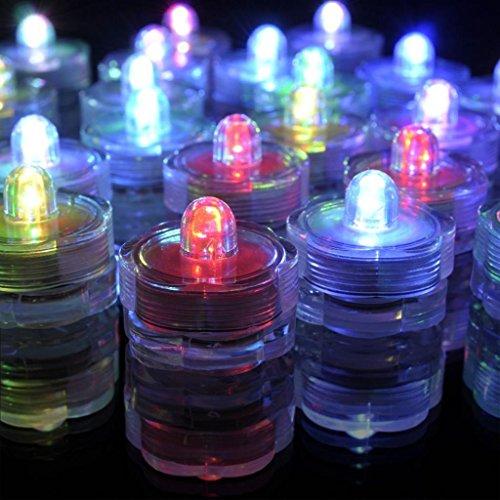 Generic valentine's day/Wasserdicht Unterwasser-Sub-Leuchten LED-Teelicht Underwater Lights wechselnde Farben 4Pcs Color (Lichter Batteriebetriebene Led Für Kostüme)