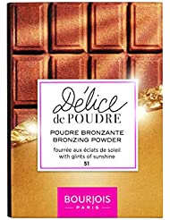 Bourjois Delice De Poudre Bronzer Bronzing Powder 51 Light and Medium Complexions, 16g
