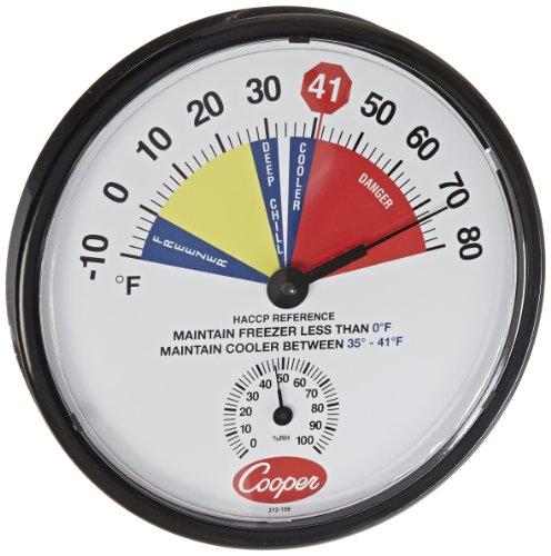 cooper-atkins 212-159-8bi-metals HACCP Kühler/Gefrierschrank Thermometer, 10bis 80Grad F Temperaturbereich -