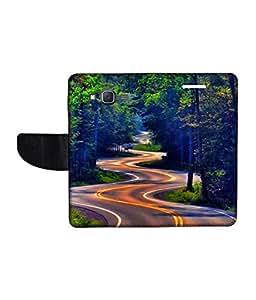 KolorEdge Printed Flip Cover For Samsung Galaxy J5 Multicolor - (1478-50KeMLogo10347SamJ5)