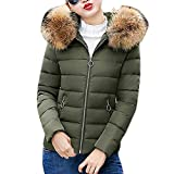 Mantel Winterjacke Damen,Langen Mantel Wintermantel Regular Solide Lässig Dicker Winter Slim Down Jacke Mantel Frauen Winter Warm Daunenmantel Workout Front Jacke Outwear EVAEVA