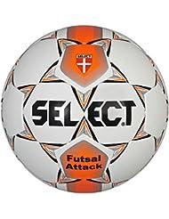 Select Attack - Balón cosido, color blanco / naranja, tamaño 62