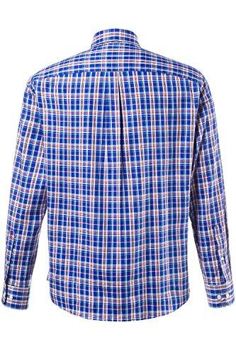 JP 1880 Herren große Größen Karohemd mit Buttondown-Kragen | Brusttasche | Comfort Fit |körpernaher Schnitt | bis Größe 7XL 705598 Kobalt