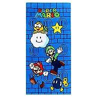 Bonamana Super Mario Beach Towel Bath Towel 100% Cotton 150x75cm (Super Mario-C)