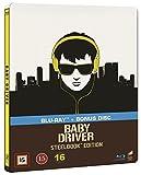Baby Driver Limited Edition Steelbook Blu Ray + Bonus Blu Ray [Nordic]
