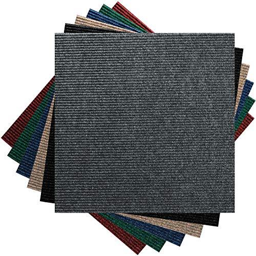 *Premium Teppichfliesen Nadelfilz – 1m² – anthrazit – selbstklebend*