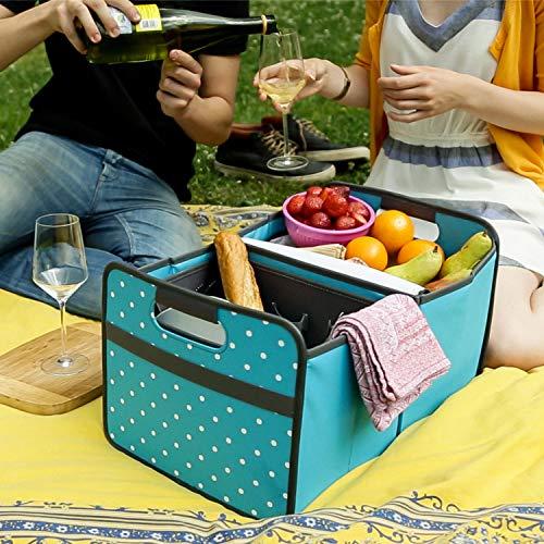 51CEHxP546L - Picknicker für Faltboxen faltbar Polyester Besteckkorb Geschirr Outdoor Party Camping Grillen Reise