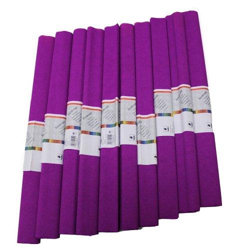 Krepp Papier 50 x 250 cm, verschiedene Farben(lila), 1 Stueck (10 Rolle)