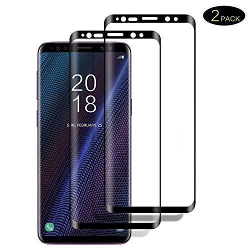 DOSMUNG Panzerglas Schutzfolie Kompatibel für Galaxy S9, [2 stück] 3D Vollständige Abdeckung Full HD Panzerglasfolie für Galaxy S9, Anti- Kratzer, Bläschenfrei, 9H Härte, Displayschutzfolie für S9