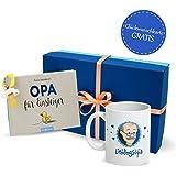 MyOma Opa Geschenk * Opa Geschenkset mit Opa für Einsteiger Buch, Schnuller und Opa Tasse in Geschenkbox + Gratis Karte * Opa Geschenk für werdenden Opa (Opa Loading) - Opa Werden Geschenk