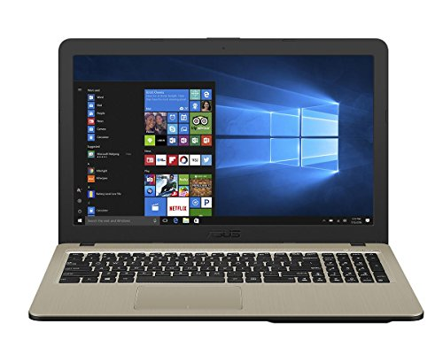 Asus VivoBook 15 F540NA 90NB0HG1-M04390 39,6 cm (15,6 Zoll HD Matt) Notebook (Intel Celeron N3350, 4GB RAM, 1TB HDD, Intel HD-Grafik 500, Win 10) chocolate black