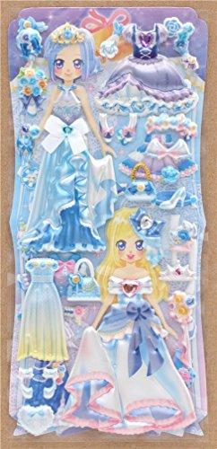 Crux Pegatinas esponjosas de Colores con muñecas para Vestir, Vestidos Azules, etc.