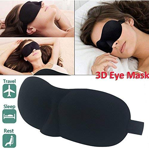 FreshDcart Blind Sleeping Eye Mask Slip Night Sleep Eye black 3D Cotton Cover Super Soft & Smooth Travel Masks for Men Women Girls Boys Kids