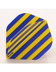 x 5 Paires de bandes Bleu Jaune couleurs de l'équipe de Football, forme Standard