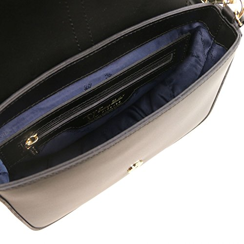 Tuscany Leather Nausica - Borsa a tracolla in pelle Ruga - TL141598 (Magenta) Nero