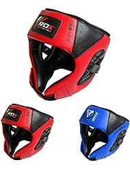 RDX Cuero Niño Boxeo Cascos MMA Kickboxing Sparring Casco Protector Entrenamiento Lucha